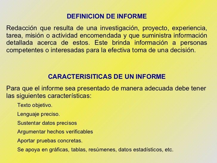 Normas para la Presentacion de Informes