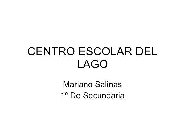 CENTRO ESCOLAR DEL LAGO Mariano Salinas 1º De Secundaria