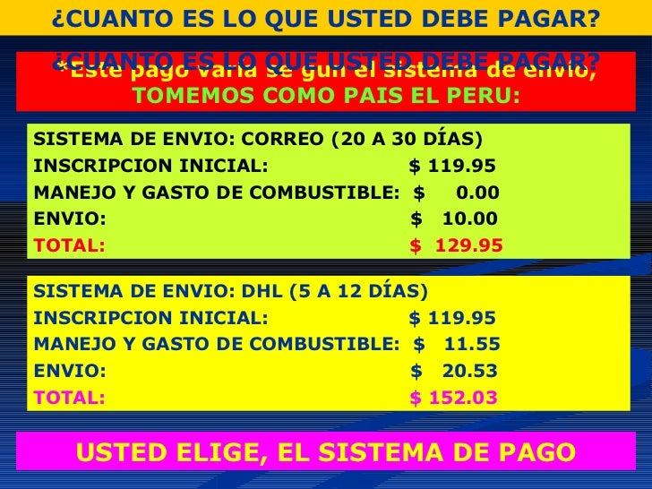 Presentacion del negocio donde ahorraras y ganaras for Oficinas dhl peru