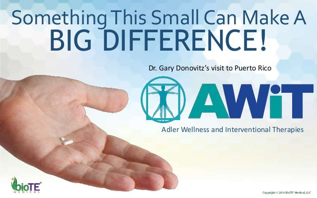 SomethingThis Small Can Make A BIG DIFFERENCE! Adler Wellness and Interventional Therapies Dr. Gary Donovitz's visit to Pu...