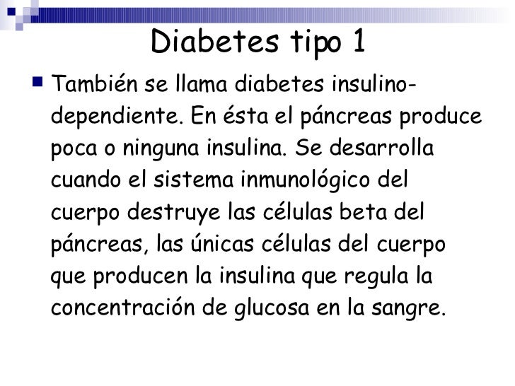 es diabetes tipo 1 o tipo 2 dependiente de insulina