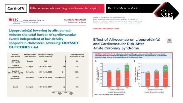 Últimas novedades en riesgo cardiovascular y lípidos Dr. Lluís Masana Marín