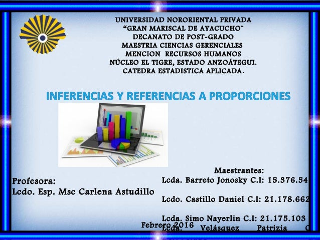 Profesora: Lcdo. Esp. Msc Carlena Astudillo Maestrantes: Lcda. Barreto Jonosky C.I: 15.376.545 Lcdo. Castillo Daniel C.I: ...