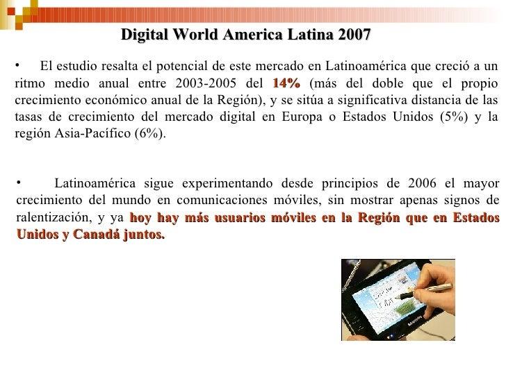 <ul><li>El estudio resalta el potencial de este mercado en Latinoamérica que crec ió  a un ritmo medio anual entre 2003-20...