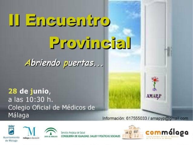 II Encuentro Provincial, 2014 Asociación Malagueña de Afectados Polio y Postpolio