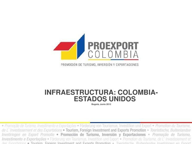 INFRAESTRUCTURA: COLOMBIA-       ESTADOS UNIDOS          Bogotá, Junio 2012