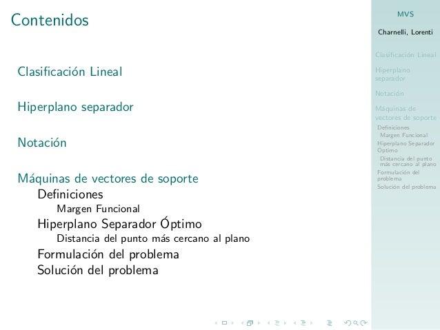 Máquinas de vectores de soporte Slide 2