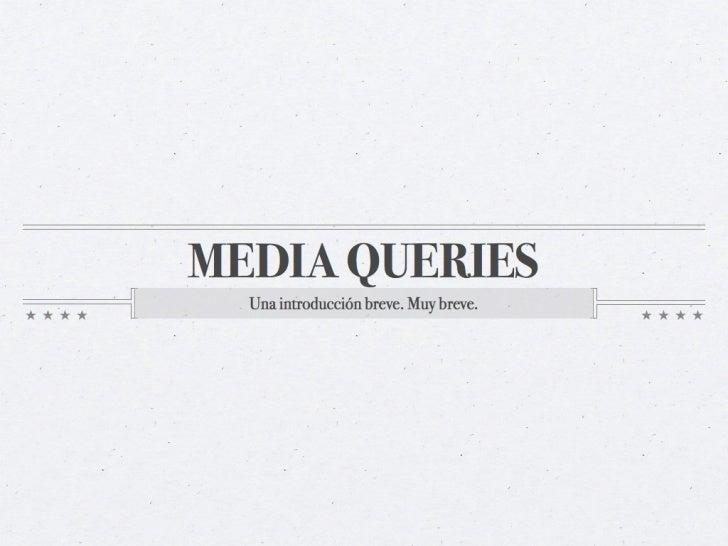 Presentacion media-queries