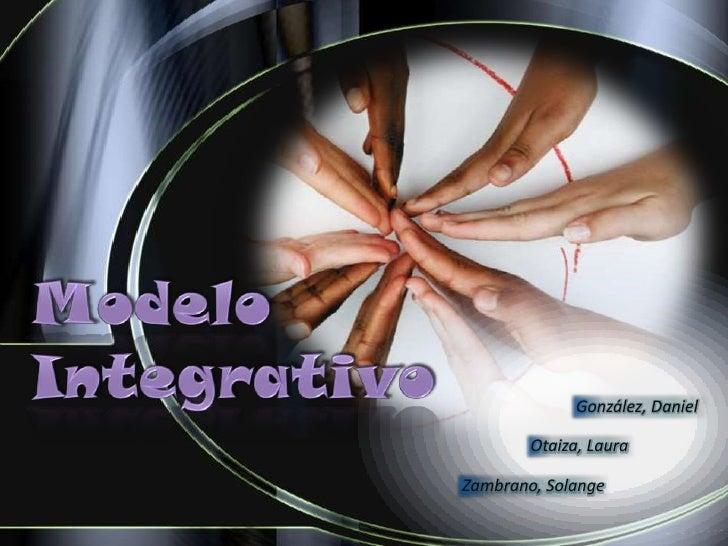 Presentacion -  Modelo Integrativo