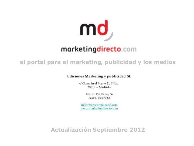 el portal para el marketing, publicidad y los medios               Ediciones Marketing y publicidad SL                    ...