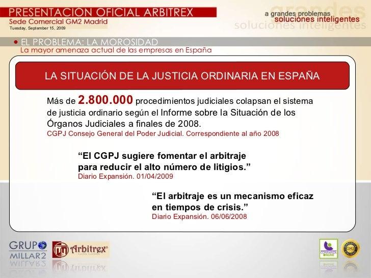 Tuesday, September 15, 2009    EL PROBLEMA: LA MOROSIDAD La mayor amenaza actual de las empresas en España Más de  2.800....