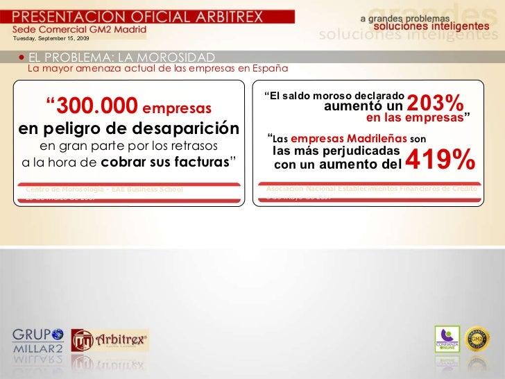 """Tuesday, September 15, 2009    EL PROBLEMA: LA MOROSIDAD La mayor amenaza actual de las empresas en España """" 300.000   em..."""