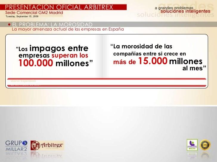 Tuesday, September 15, 2009    EL PROBLEMA: LA MOROSIDAD La mayor amenaza actual de las empresas en España Diario Expansi...