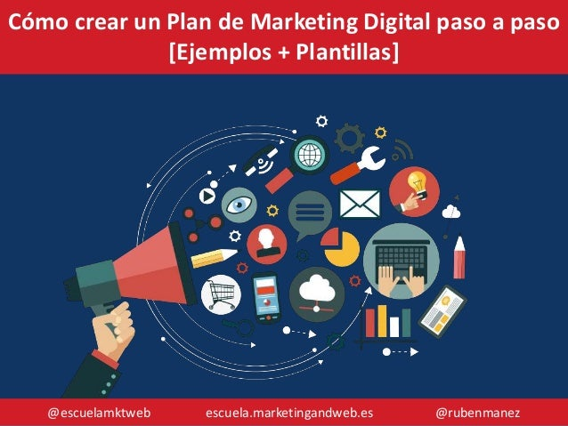 @escuelamktweb escuela.marketingandweb.es @rubenmanez Cómo crear un Plan de Marketing Digital paso a paso [Ejemplos + Plan...