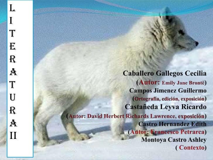 L<br />I<br />T<br />E<br />R<br />A<br />T<br />U<br />R<br />A<br />II<br />Caballero Gallegos Cecilia (Autor: Emily Jan...