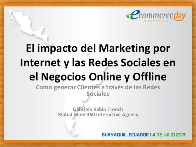 El impacto del Marketing por Internet y las Redes Sociales en el Negocios Online y Offline Como generar Clientes a través ...