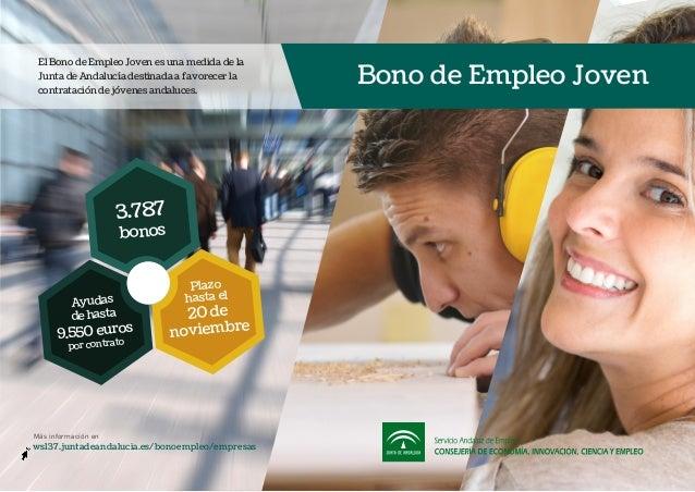 El Bono de Empleo Joven es una medida de la Junta de Andalucía destinada a favorecer la contratación de jóvenes andaluces....