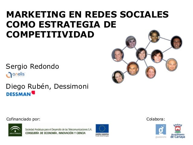 MARKETING EN REDES SOCIALES COMO ESTRATEGIA DE COMPETITIVIDAD Diego Rubén, Dessimoni Sergio Redondo Cofinanciado por: Cola...