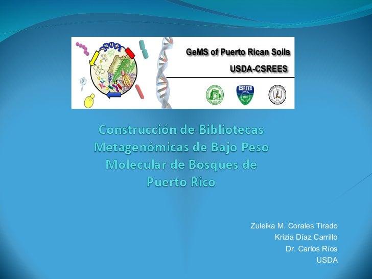 Zuleika M. Corales Tirado Krizia D í az Carrillo Dr. Carlos Ríos USDA