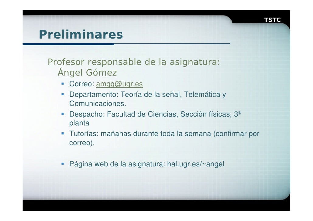 Presentacion robotica for Oficina de practicas ugr