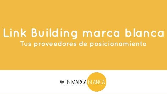 Link Building marca blanca Tus proveedores de posicionamiento