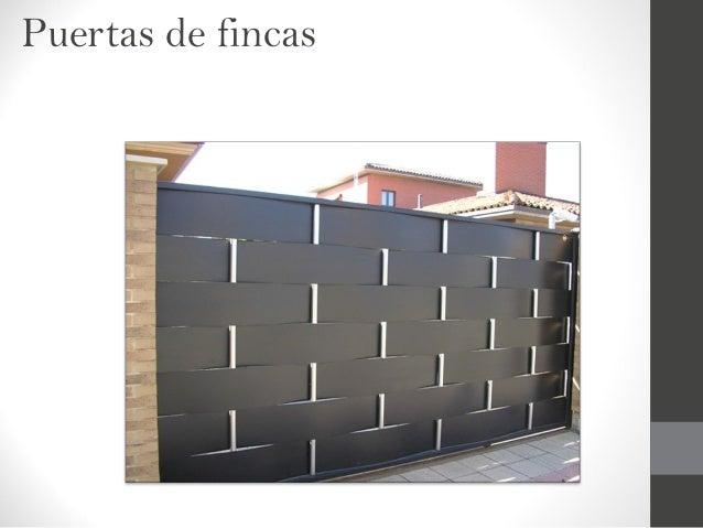 Presentacion talleres sevillano - Puertas para fincas ...