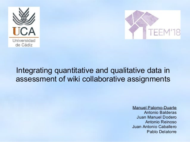Integrating Quantitative And Qualitative Data In Assessment Of Wiki C These four stages or components. slideshare