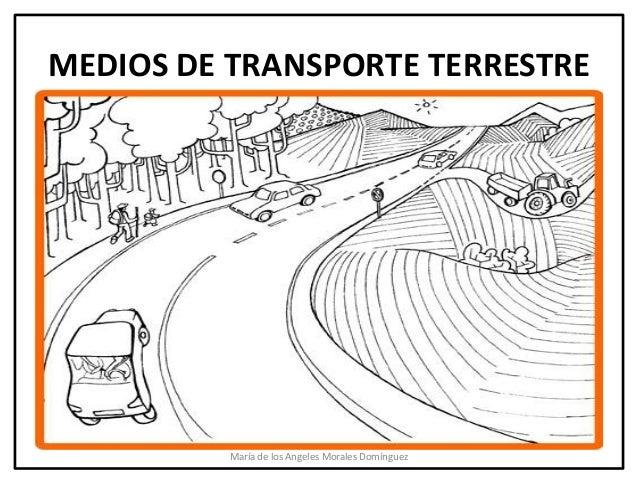 MEDIOS DE TRANSPORTE TERRESTRE          María de los Angeles Morales Domínguez