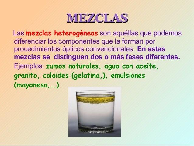 Presentacion unidad1 la materia tipos de mezclas for Que tipo de mezcla es el marmol