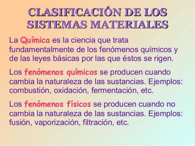 Presentacion unidad1 la materia tipos de mezclas for Cambios quimicos en la cocina