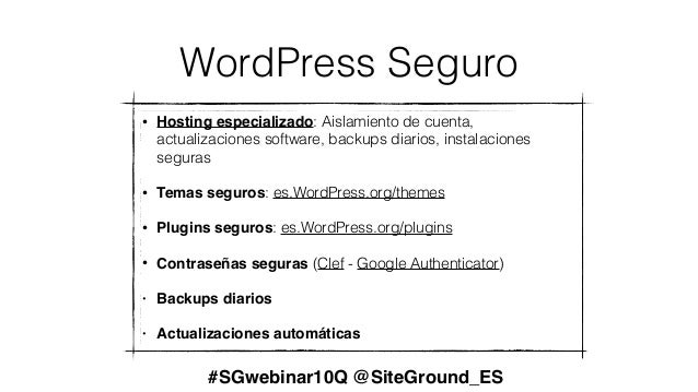 Presentación webinar 10 preguntas top WordPress