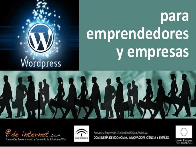 Wordpress para Empresas y Emprendedores