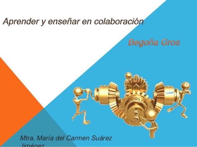 Mtra. María del Carmen Suárez  Jiménez