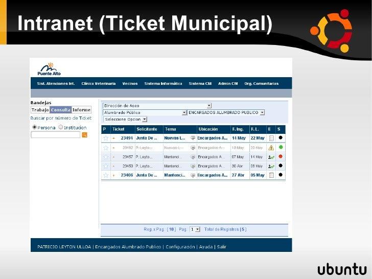Intranet Ticket Municipal