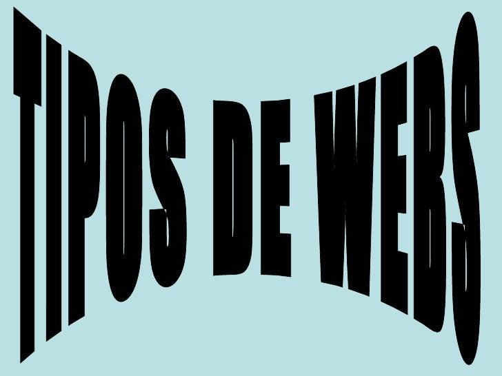 TIPOS DE WEBS