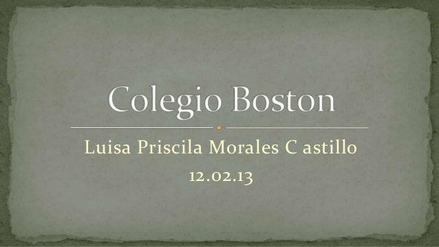 Luisa Priscila Morales C astillo            12.02.13