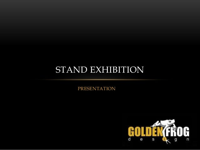 Exhibition Stall Agreement : Booth exhibition presentation of golden frog design