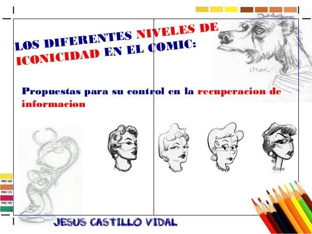 LOS DIFERENTES NIVELES DE  ICONICIDAD EN EL COMIC:  Propuestas para su control en la recuperacion de  informacion  JJeessu...