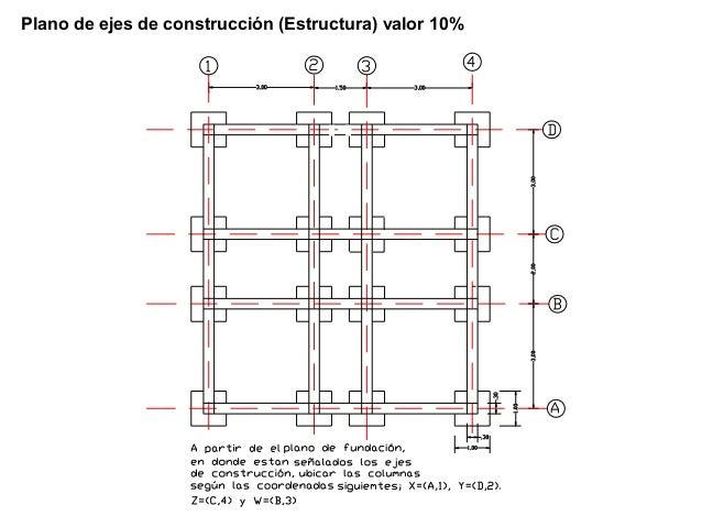 Presentacion 1 dibujo de estructuras for Planos de estructuras