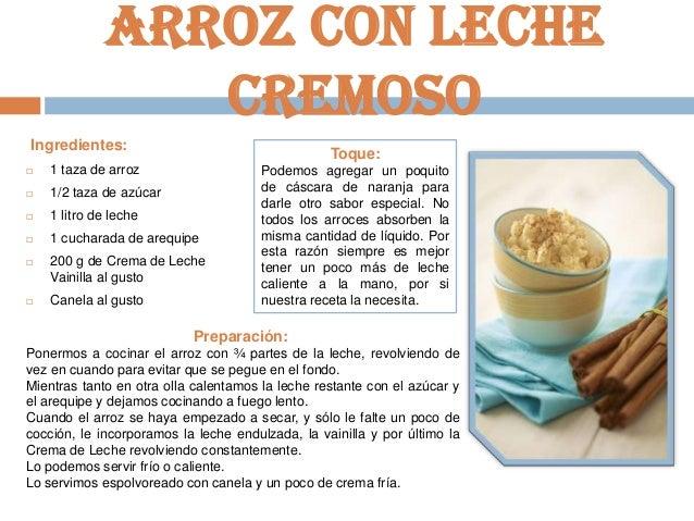 Vaca l cteos recetas de postre for Como cocinar 5 kilos de arroz
