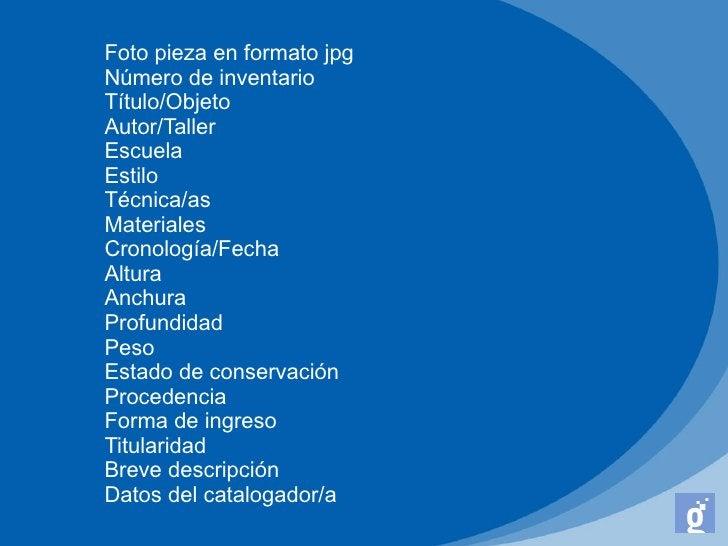 Foto pieza en formato jpgNúmero de inventarioTítulo/ObjetoAutor/TallerEscuelaEstiloTécnica/asMaterialesCronología/FechaAlt...