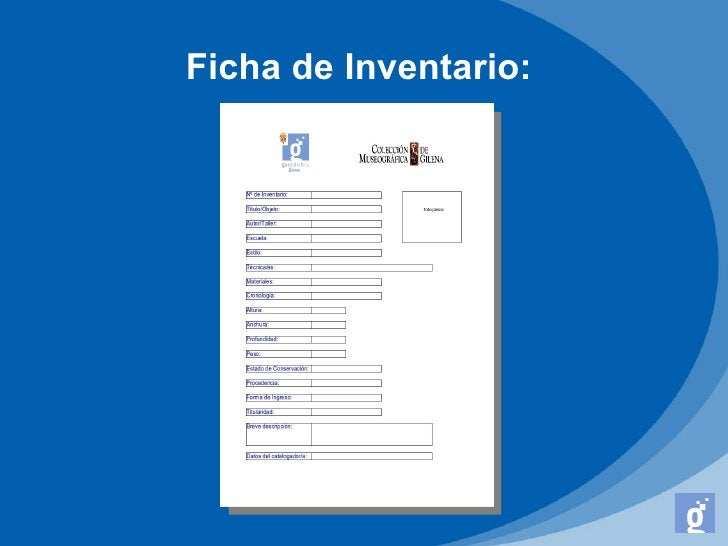 Ficha de Inventario: