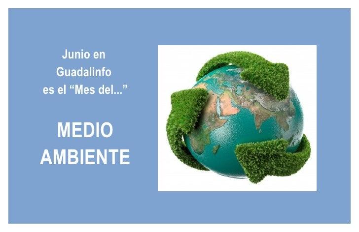 """Junio en  Guadalinfo  es el """"Mes del..."""" MEDIO AMBIENTE"""