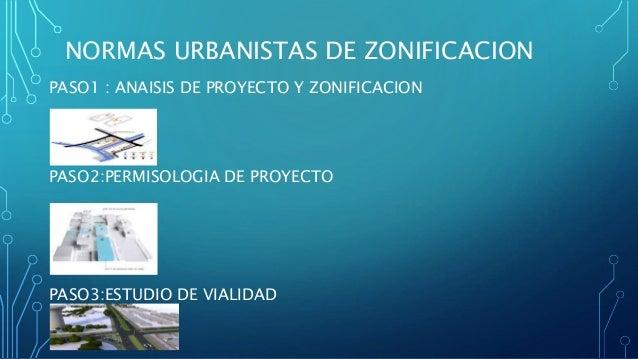 PASO1 : ANAISIS DE PROYECTO Y ZONIFICACION PASO2:PERMISOLOGIA DE PROYECTO PASO3:ESTUDIO DE VIALIDAD NORMAS URBANISTAS DE Z...
