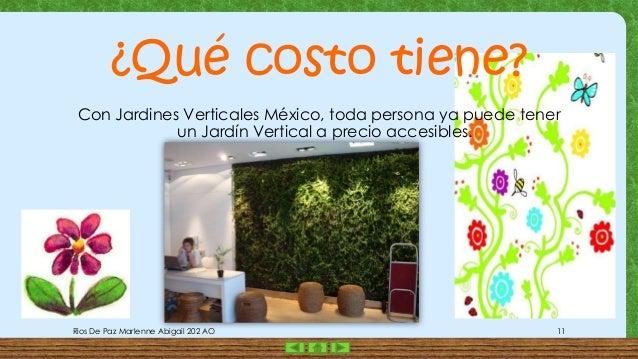 Presentacion 1 jardines verticales for Jardines verticales precios