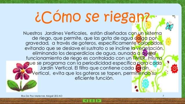 Presentacion 1 jardines verticales for Riego de jardines verticales