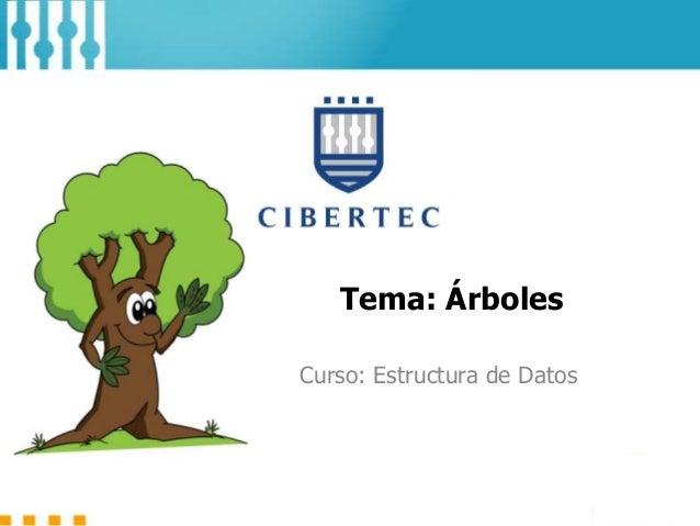 Tema: Árboles Curso: Estructura de Datos