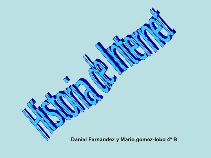 Daniel Fernandez y Mario gomez-lobo 4º B