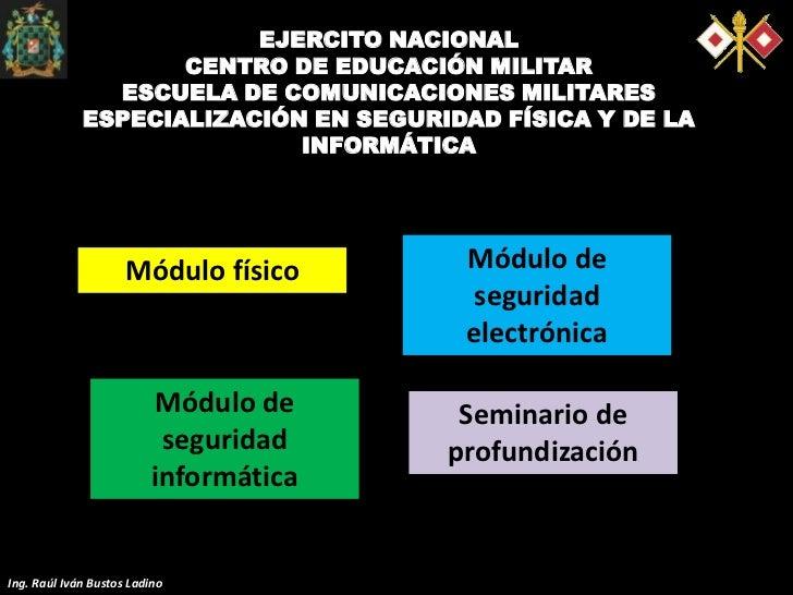 EJERCITO NACIONAL                    CENTRO DE EDUCACIÓN MILITAR               ESCUELA DE COMUNICACIONES MILITARES        ...