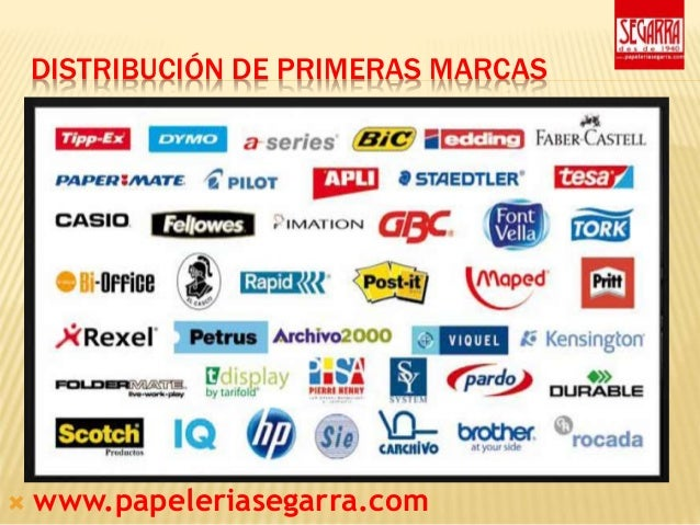 Presentacion papeleria segarra for Oficina patentes y marcas barcelona